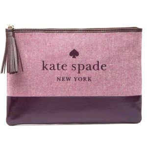 NWT Kate Spade Deepplum pouch